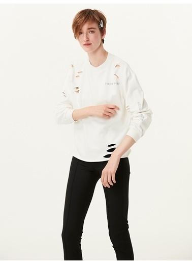 Twist Sweatshirt Beyaz